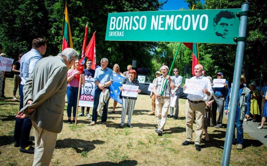 В Вильнюсе открывается сквер имени Бориса Немцова