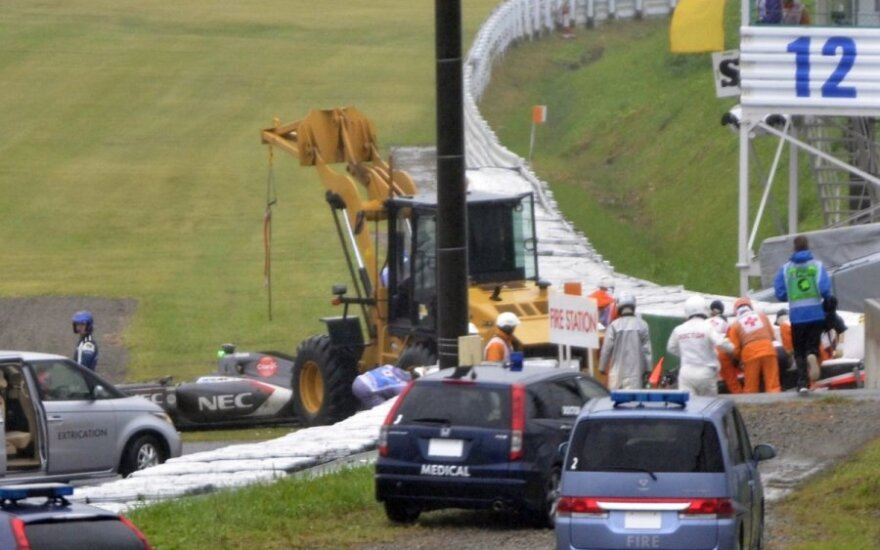 Jules Bianchi avarijos vieta