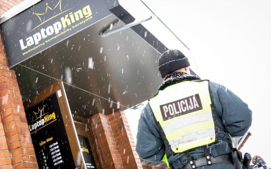 Средь бела дня в Вильнюсе ограблен компьютерный магазин