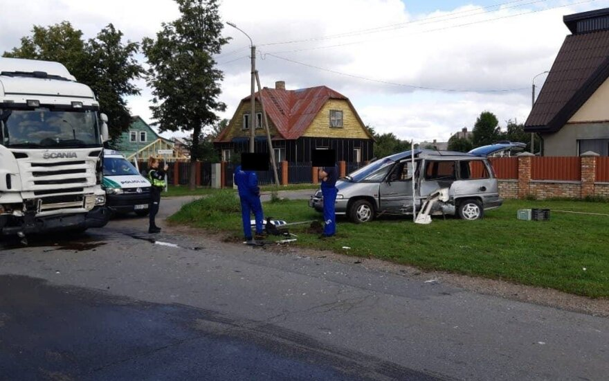 В Шяуляй в ДТП пострадал человек