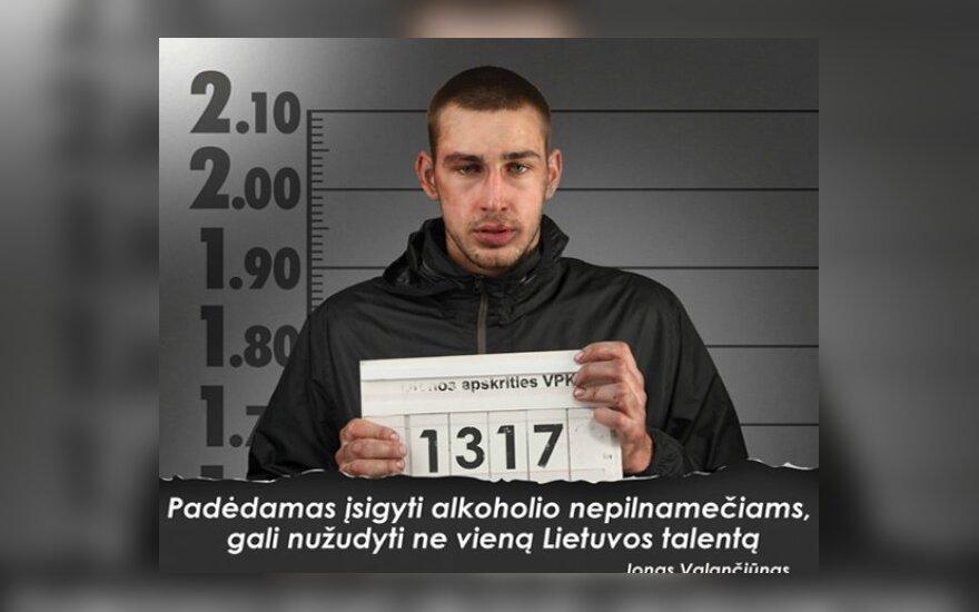 Jonas Valančiūnas socialinėje reklamoje