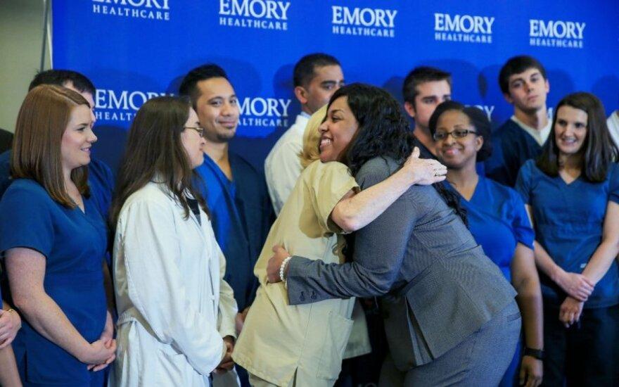 JAV iš ligoninės išrašyta antroji nuo Ebolos pasveikusi slaugė Amber Vinson