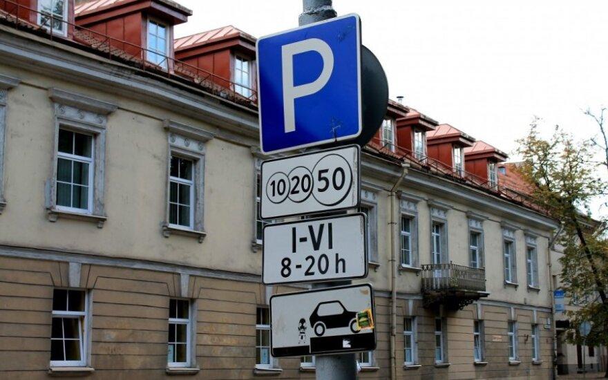 С Нового года в Вильнюсе изменятся зоны парковки: что должны знать водители