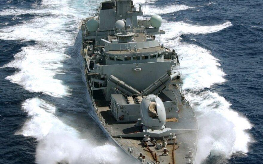 """Britų karo laivas """"HMS Portland"""""""