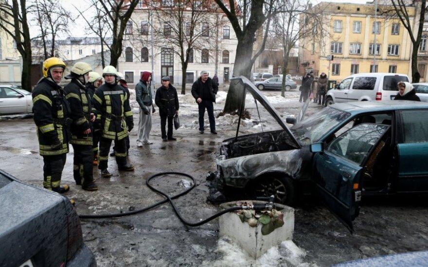 В Вильнюсе взорвался автомобиль