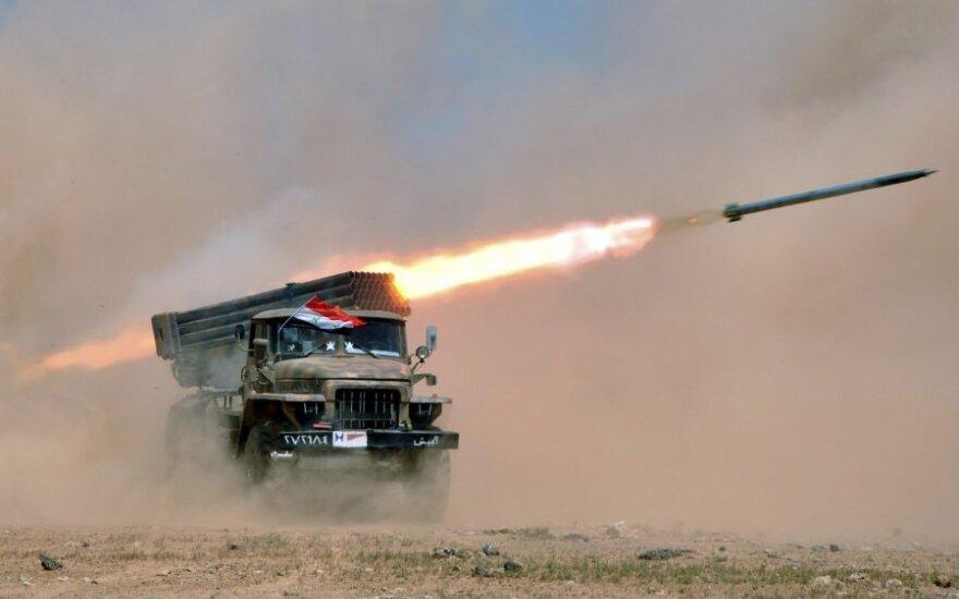 Sirijos armija surengė karines pratybas