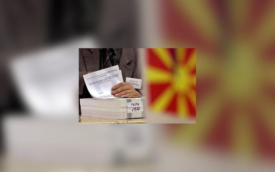 Makedonijoje vyksta referendumas