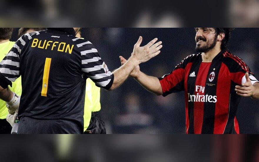 "Gianluigi Buffonas ir Gennaro Gattuso (AC ""Milan"")"