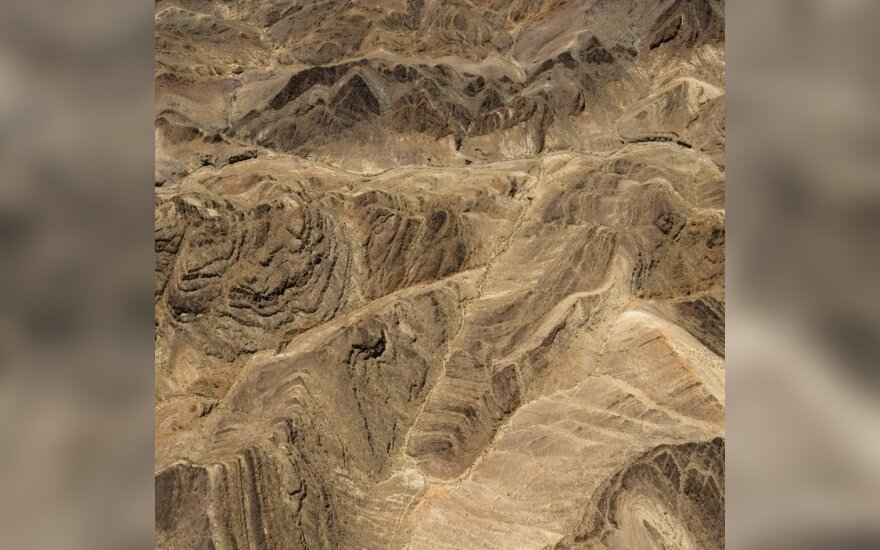 Irano ir Afganistano pasienio zonos reljefas