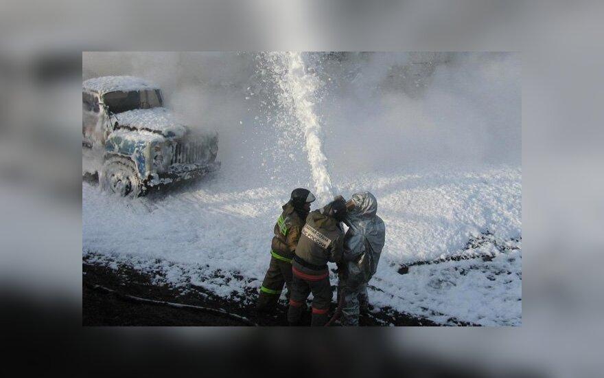 Красноярский край: взорвались два бензовоза, есть погибшие