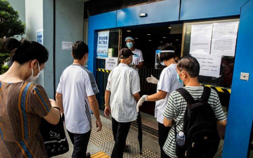 Honkongas pradėjo masinį testavimą dėl koronaviruso