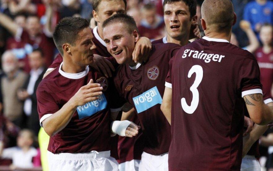 """Hearts"" klubo futbolininkai džiaugiasi pergale"