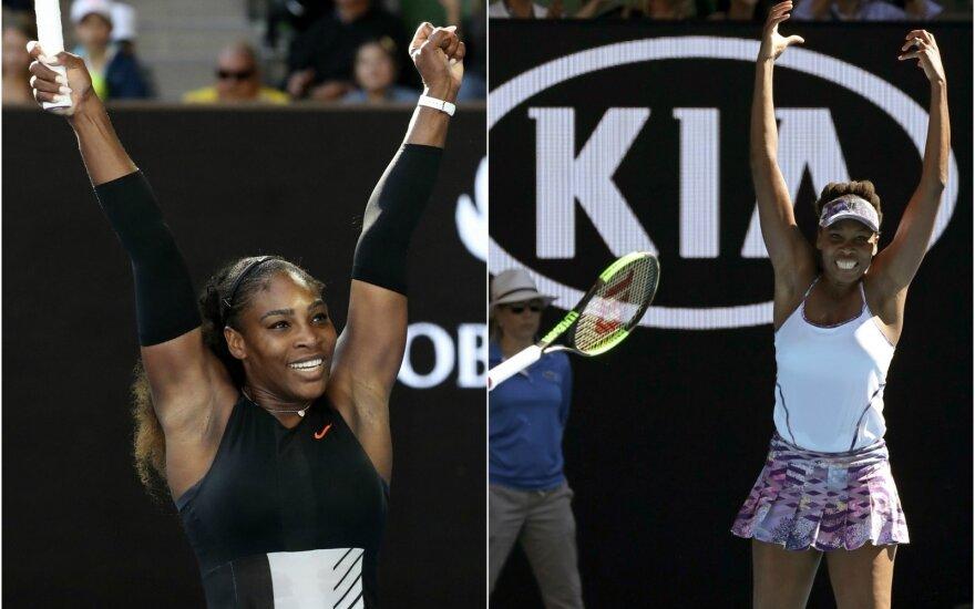 Serena ir Venus Williams (AP nuotr.)