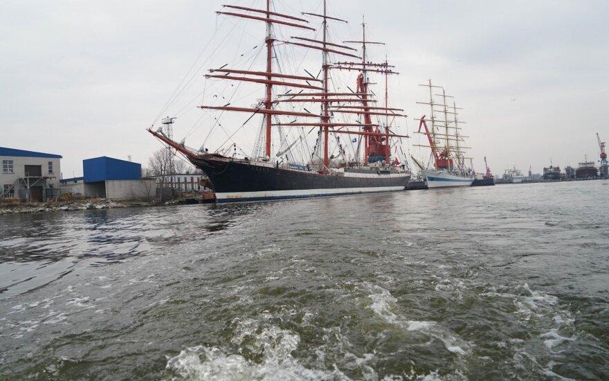 """Rusų mokomasis laivas """"Sedov"""""""
