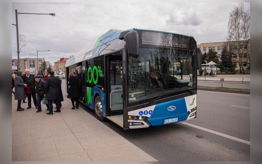 """Elektrinis autobusas """"Solaris"""" Panevėžyje"""