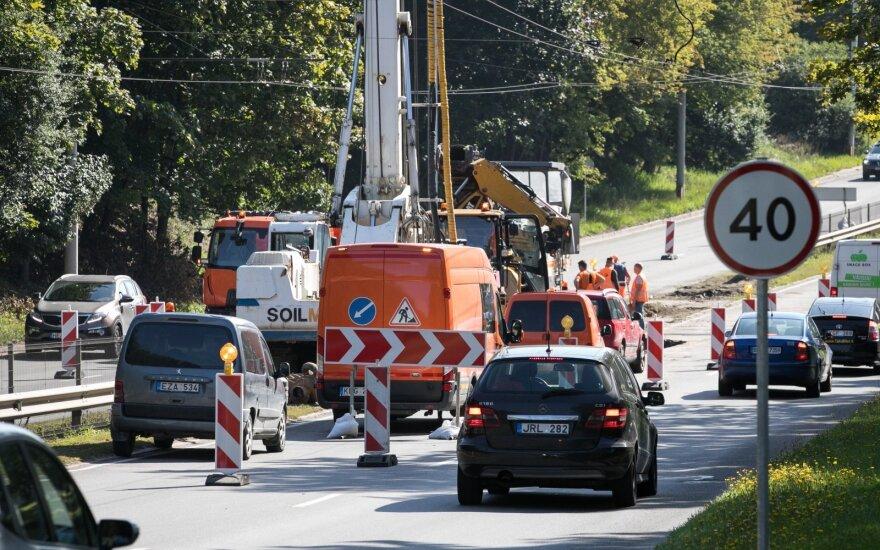 По одной из артерий Вильнюса движение транспорта будет ограничено до конца лета