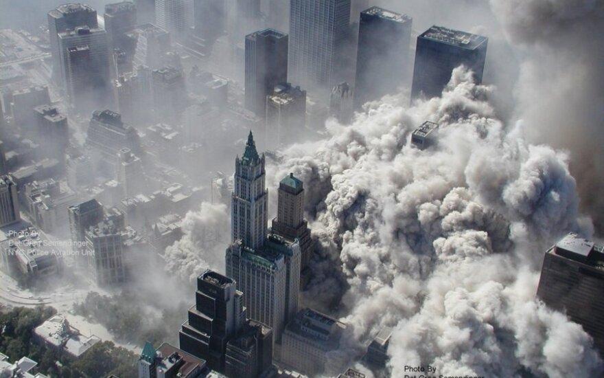 Unikali Rugsėjo 11 d. teroro akto nuotrauka, daryta iš sraigtasparnio