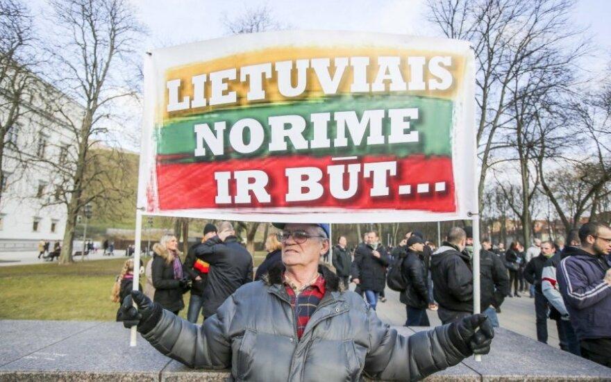 В центре Вильнюса состоялось шествие народников