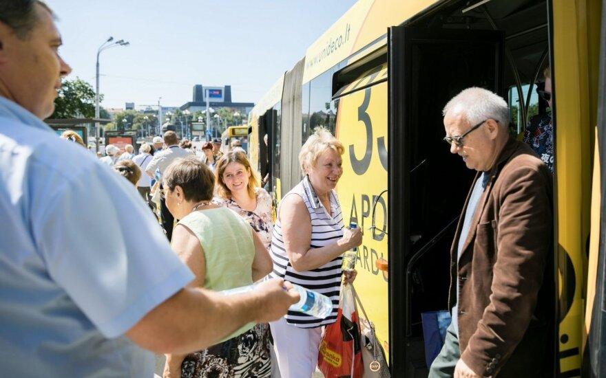 В жару пассажиров общественного транспорта в Вильнюсе ждет сюрприз