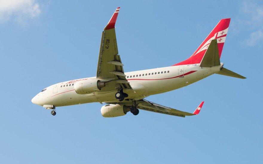 """Ant plauko pakibo ateitis del """"Georgia Airways"""" skrydžių į Vilnių – nebeparduoda bilietų"""
