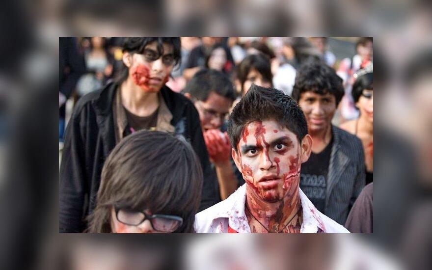 """Парад """"зомби"""" в Мехико собрал рекордное число участников"""