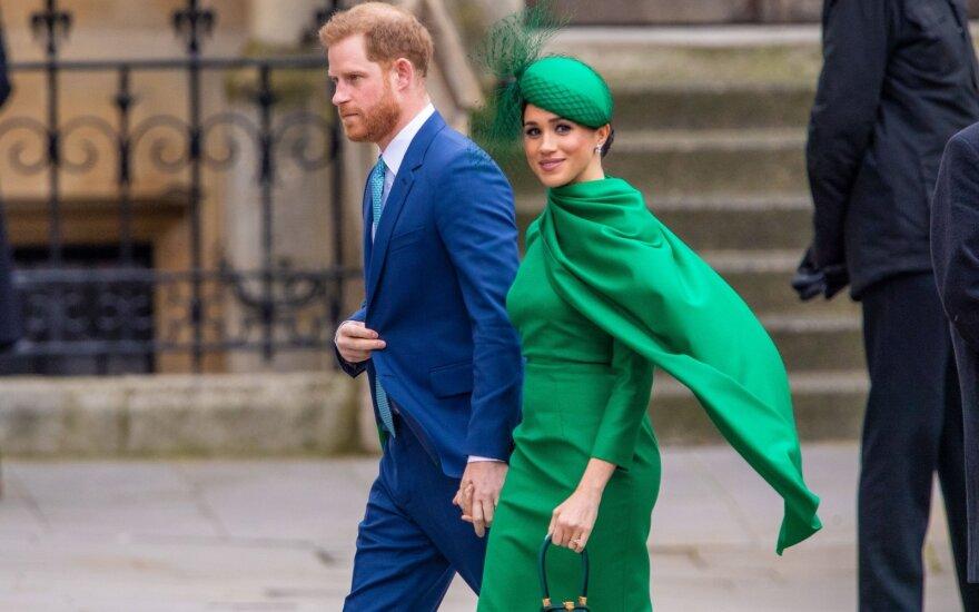 Princas Harry su žmona Meghan Markle