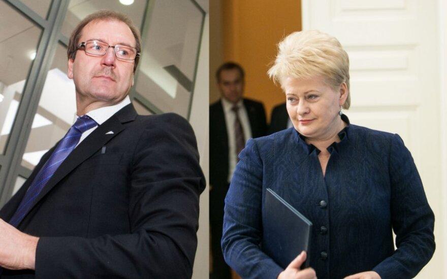 Viktoras Uspaskichas ir Dalia Grybauskaitė