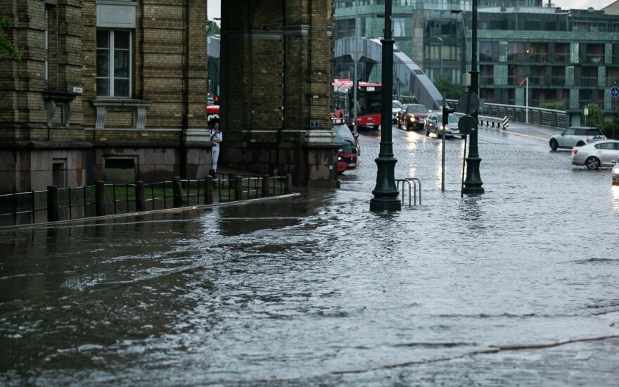 Приближается сильный ливень: какие места в Вильнюсе самые опасные