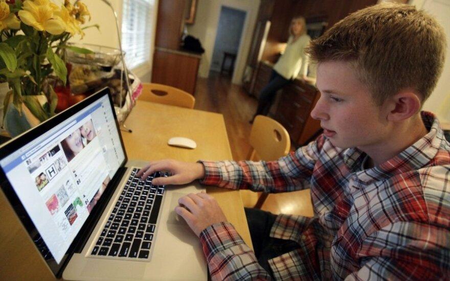 vaikas, berniukas, paauglys, jaunuolis, mokykla, kompiuteris, mokinys, bendravimas, paauglystė