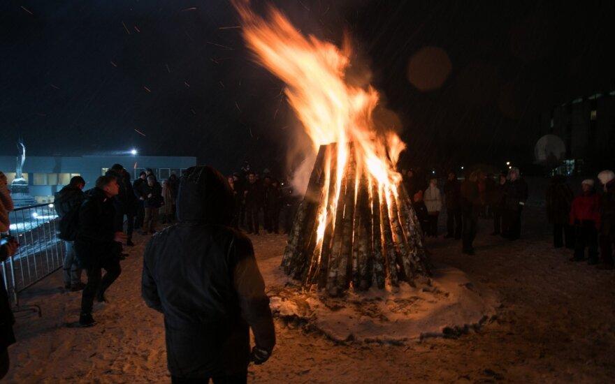 В столице Литвы зажжены Костры памяти