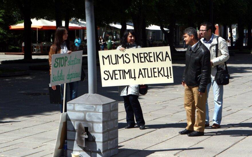 Piketas Kaune dėl atliekų deginimo