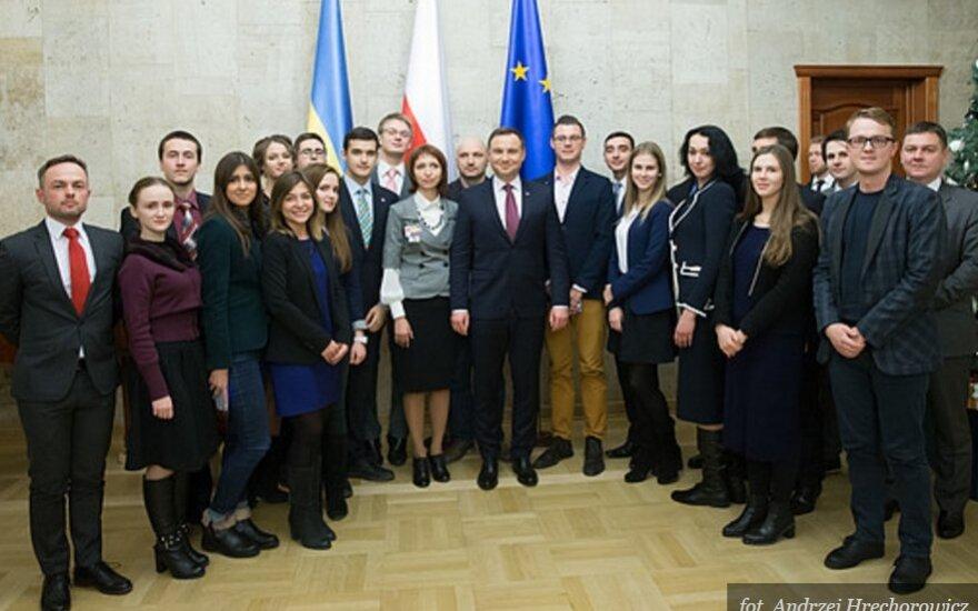 Prezydent dziękuje Polakom z Ukrainy za pielęgnowanie tradycji. Foto:prezydent.lt