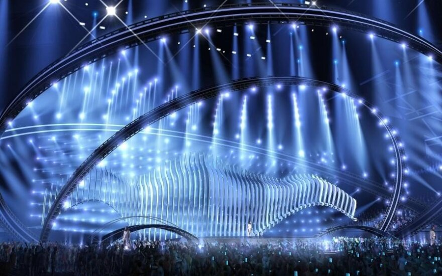 """Eurovizija 2018"" scenos vizualizacija"