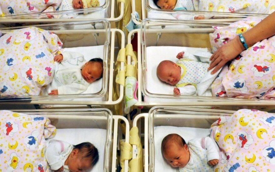naujagimis, kūdikis, vaikai, ligoninė