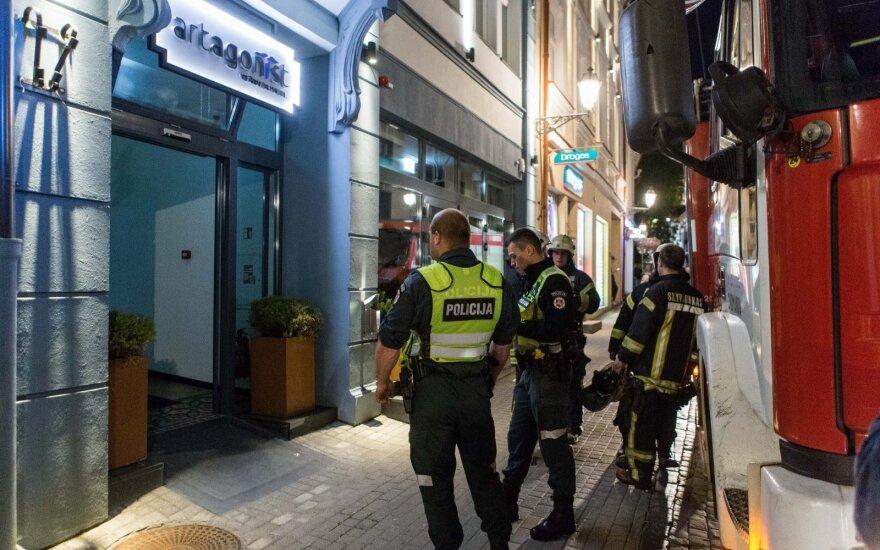 В центре Вильнюса горела гостиница, эвакуировали людей