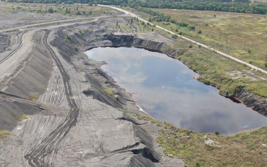 Хвостохранилище Авдеевского КХЗ с трех сторон окружено отвалами сухих отходов