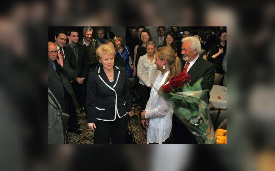 Д.Грибаускайте победила с первой попытки