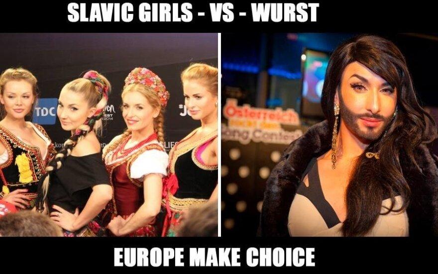 Slavic girls vs Wurst