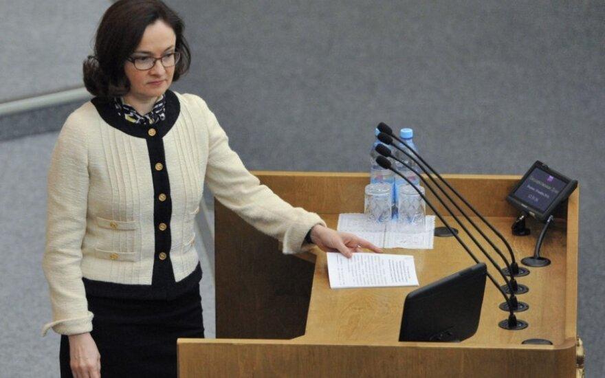 Rusijos centrinio banko vadovė Elvira Nabiulina