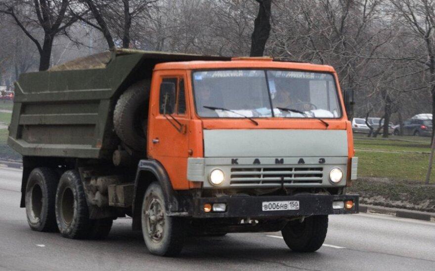 В Волгограде водители КамАЗами перекрыли центральную улицу