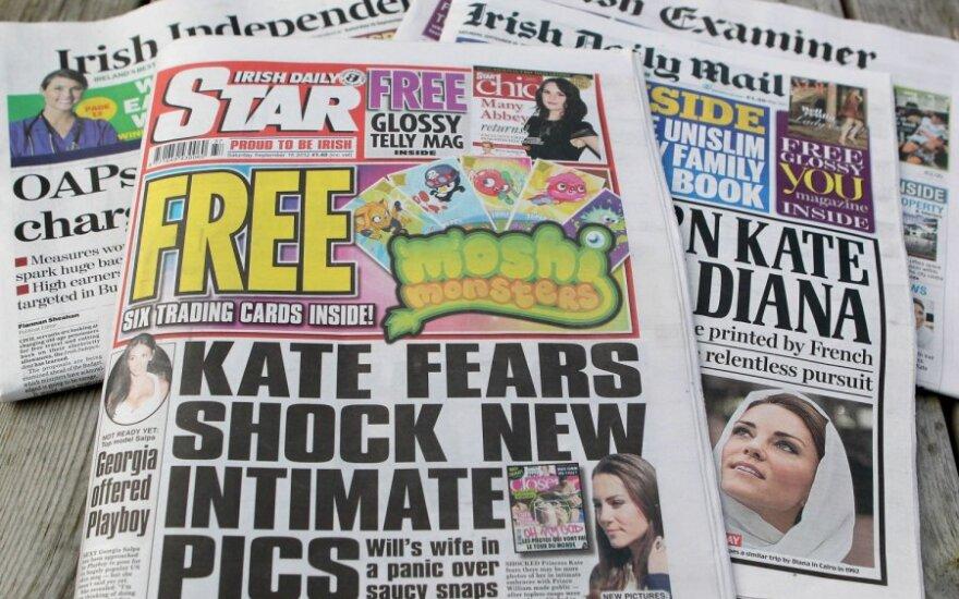 """Laikraštis """"Irish Daily Star"""" su pusnuogės Catherine Middleton nuotraukomis"""