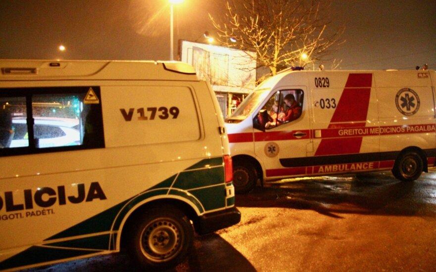 В Вильнюсе столкнулись два автомобиля, образовались заторы