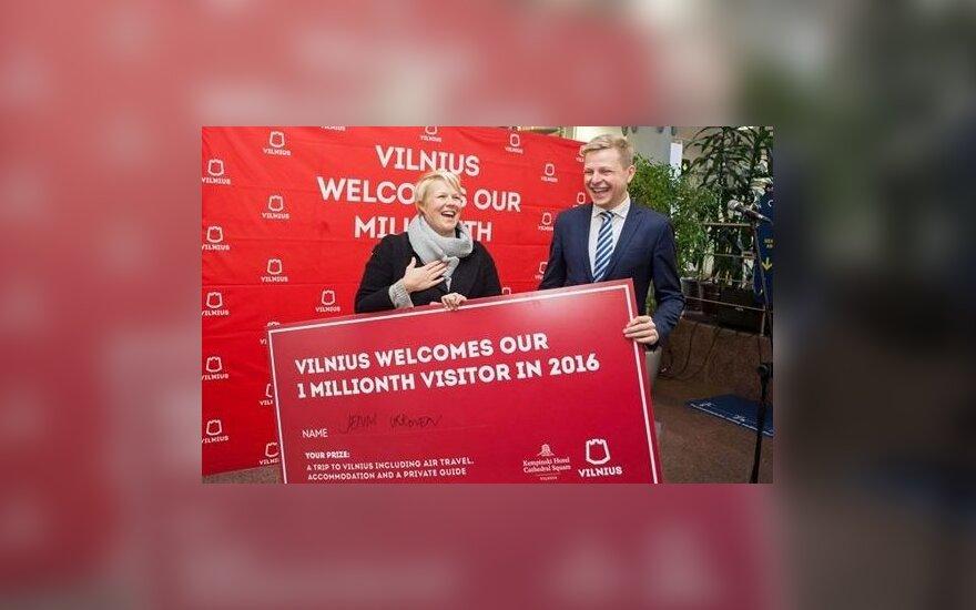 В Вильнюс прибыл миллионный авиапассажир в этом году