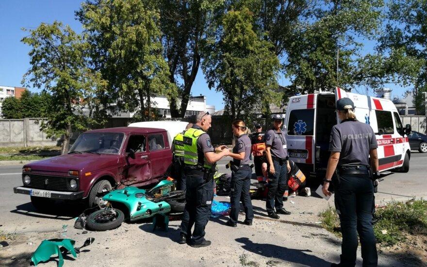 В Паневежисе погиб мотоциклист