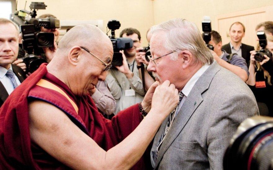Jo Šventenybė Dalai Lama XIV ir Vytautas Landsbergis