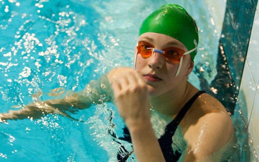 Rūta Meilutytė rytinėje treniruotėje
