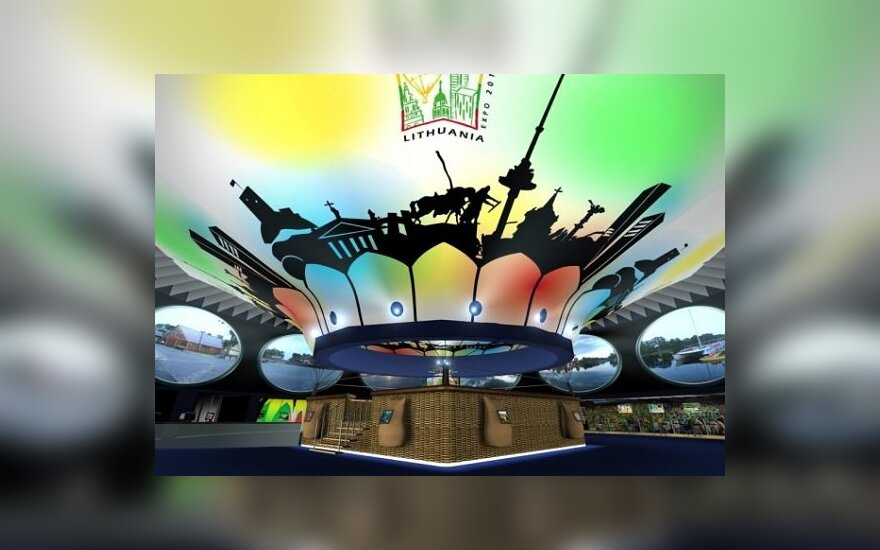 "Lietuvos nacionalionio paviljono parodoje ""Expo 2010"" projektas, ""Ekspobaltos"" vizualizacija"