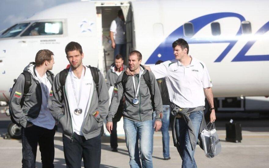 Wicemistrzowie Europy już w Wilnie. Otrzymają 250 tys. litów