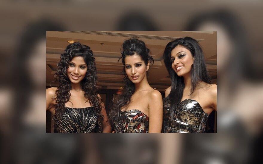 Mis Indija pagrindinių nominacijų laimėtojos: Nikole Faria, Manasvi Mamgai ir Neha Hinge