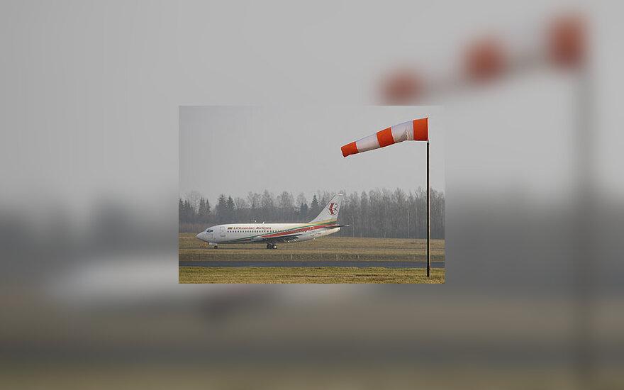Vėjo kripties rodyklė, liektuvas, oro uostas